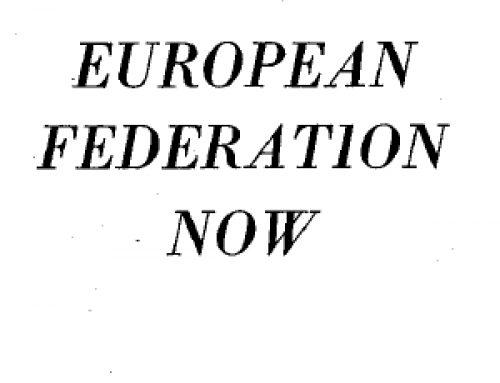 European federation now