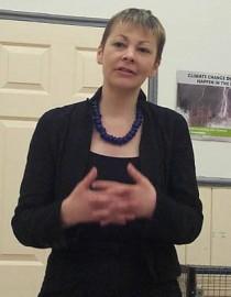 You're nicked! Caroline Lucas MP, Balcombe protestor (picture Kaihsu Tai)